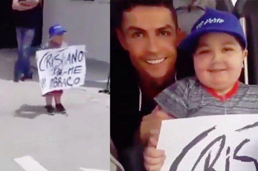Роналду остановил автобус сборной Португалии ради фото с больным ребенком