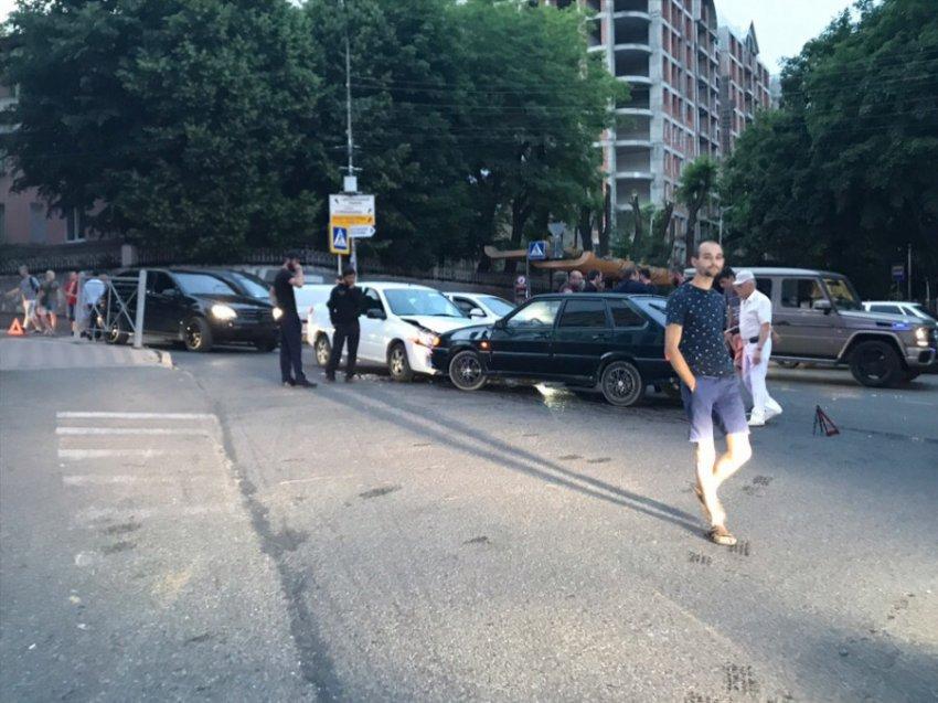 Очередная авария случилась в центре Кисловодска