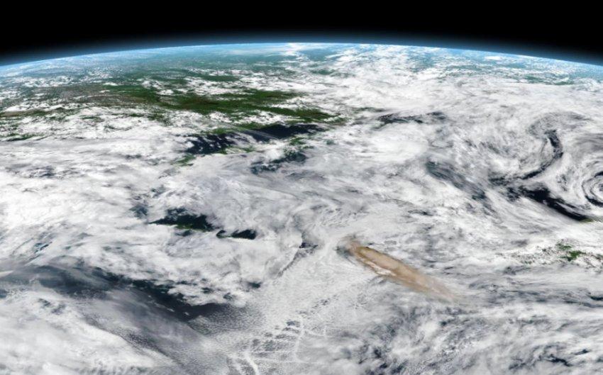 Извержение вулкана Райкоке заметили с орбитальной станции МКС