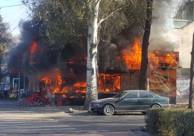 В центре Бишкека прогремели три взрыва