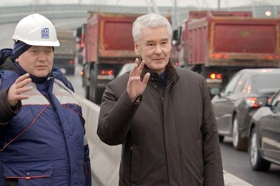 Собянин открыл балочный 6-полосный мост через Канал имени Москвы