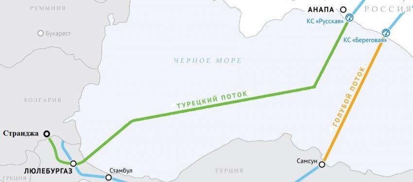 Газопровод «Турецкий поток» президенты России и Турции планируют запустить уже в начале 2020 года
