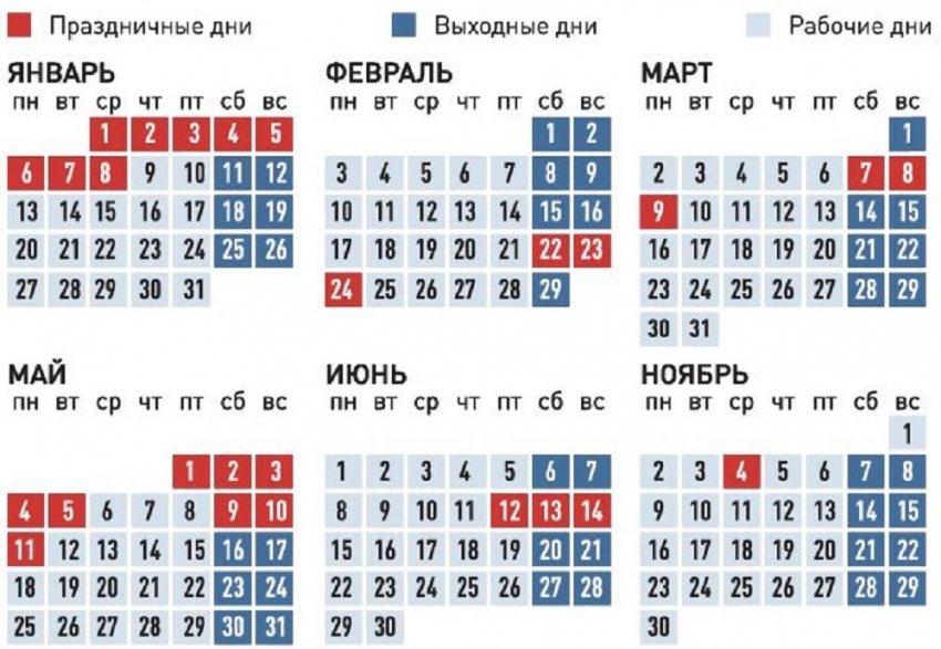 Правительство утвердило для россиян длительные выходные в январе и мае 2020 года