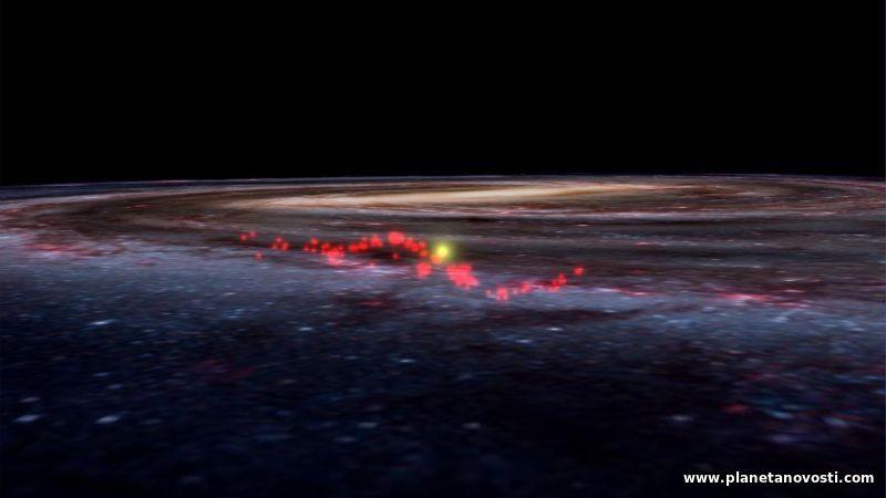 Возле Солнца обнаружена огромная волна звездных питомников