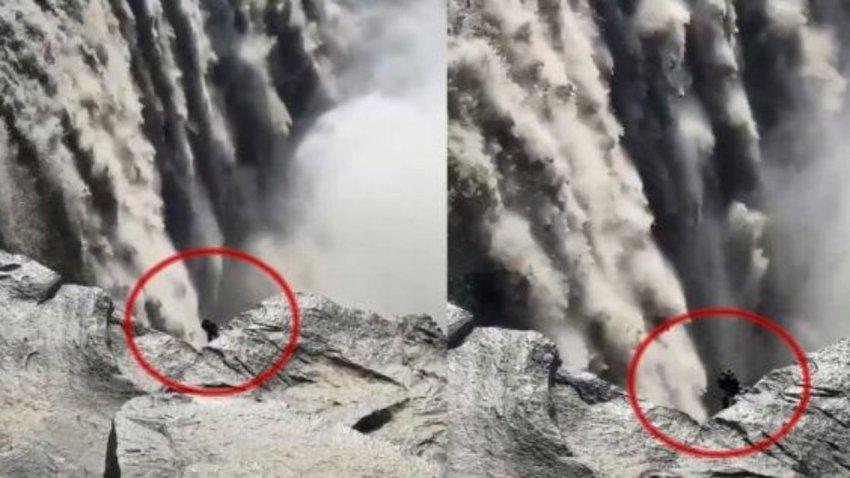 Не похоже ни на одно животное: в Исландии возле водопада засняли жуткое создание