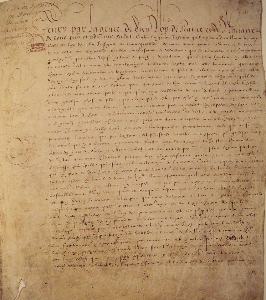 Франция: Религиозная война 16-го века