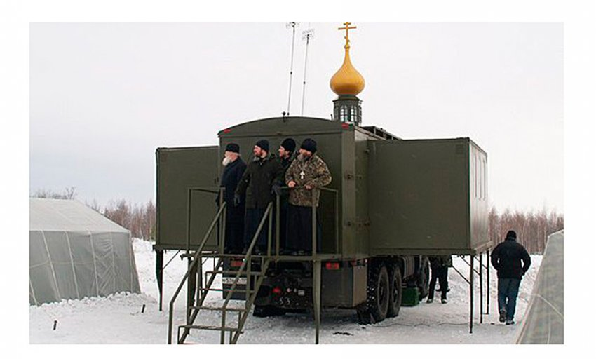 Духовный десант, военные рясы и церковь на КамАЗе