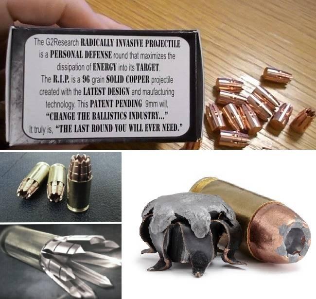 Боеприпас типа G2R RIP является самой смертоносной пулей в мире