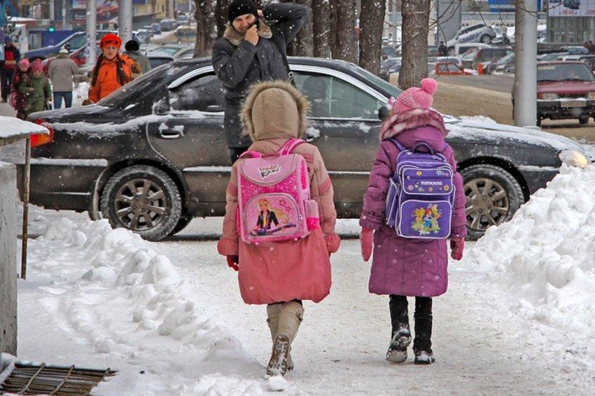 Какая температура воздуха позволяет не ходить в школу