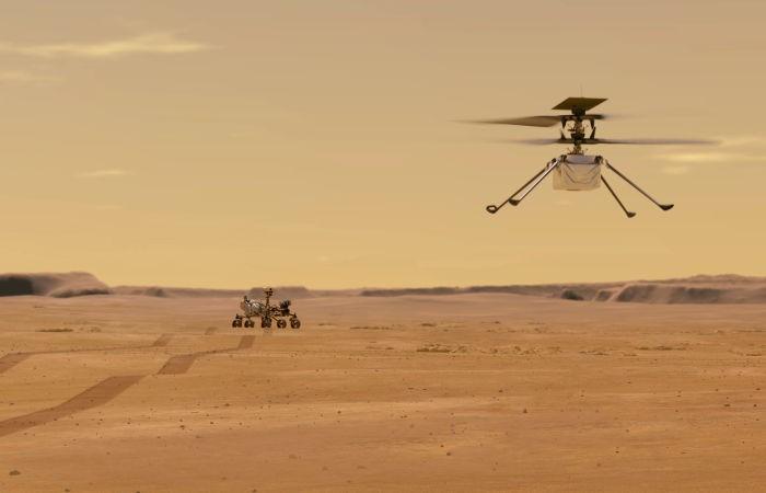 NASA снова перенесло первый полет американского вертолета на Марсе