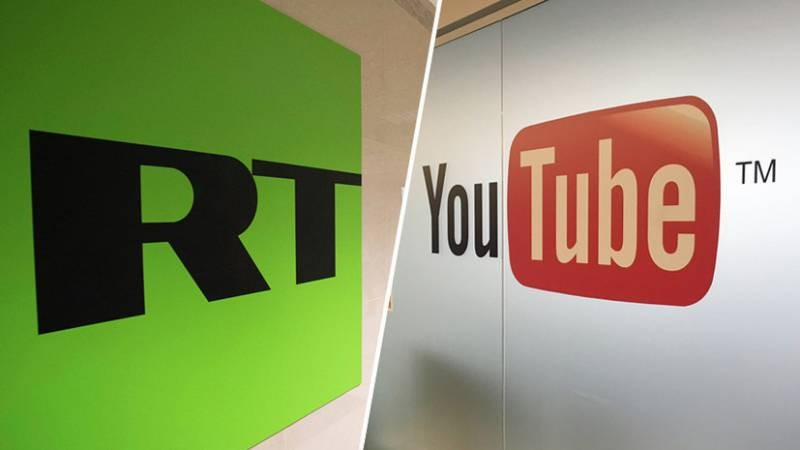 Роскомнадзор потребовал от Google снять ограничения с YouTube-канала RT