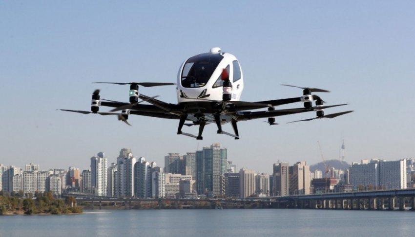 Китайцы разработали беспилотное аэротакси