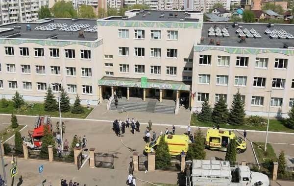 В казанской гимназии, где произошла стрельба, завершают ремонт