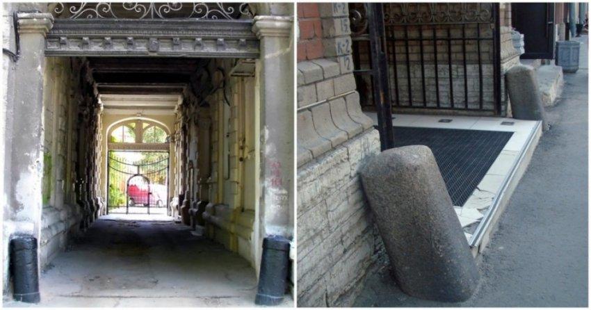 Что за столбики ставили на углах зданий Санкт-Петербурга
