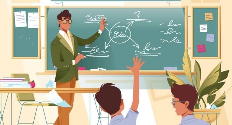 В День учителя 5 октября 2021 года звучат прикольные поздравления на открытках